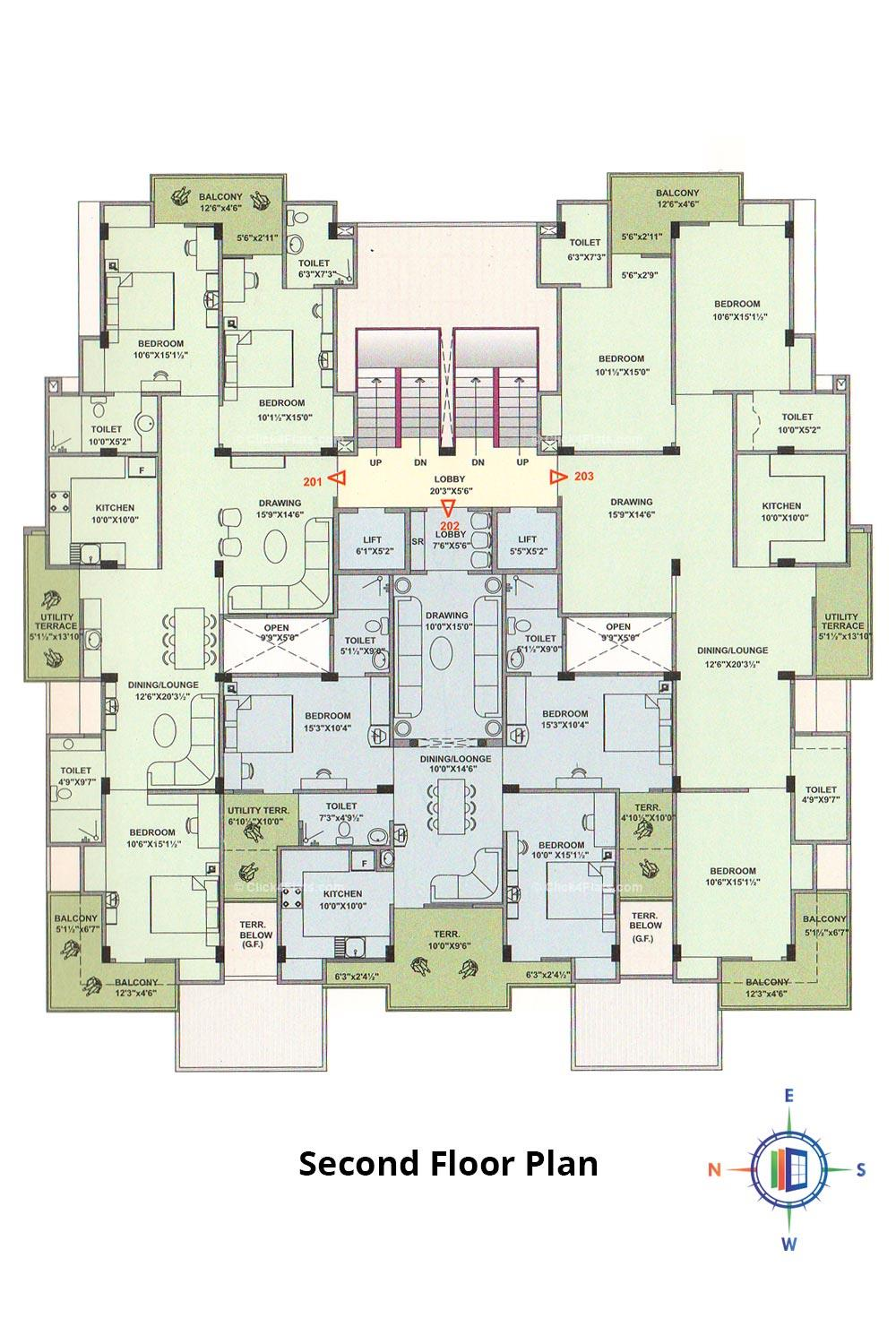 Pearl Passion Goverdhan Second Floor Plan