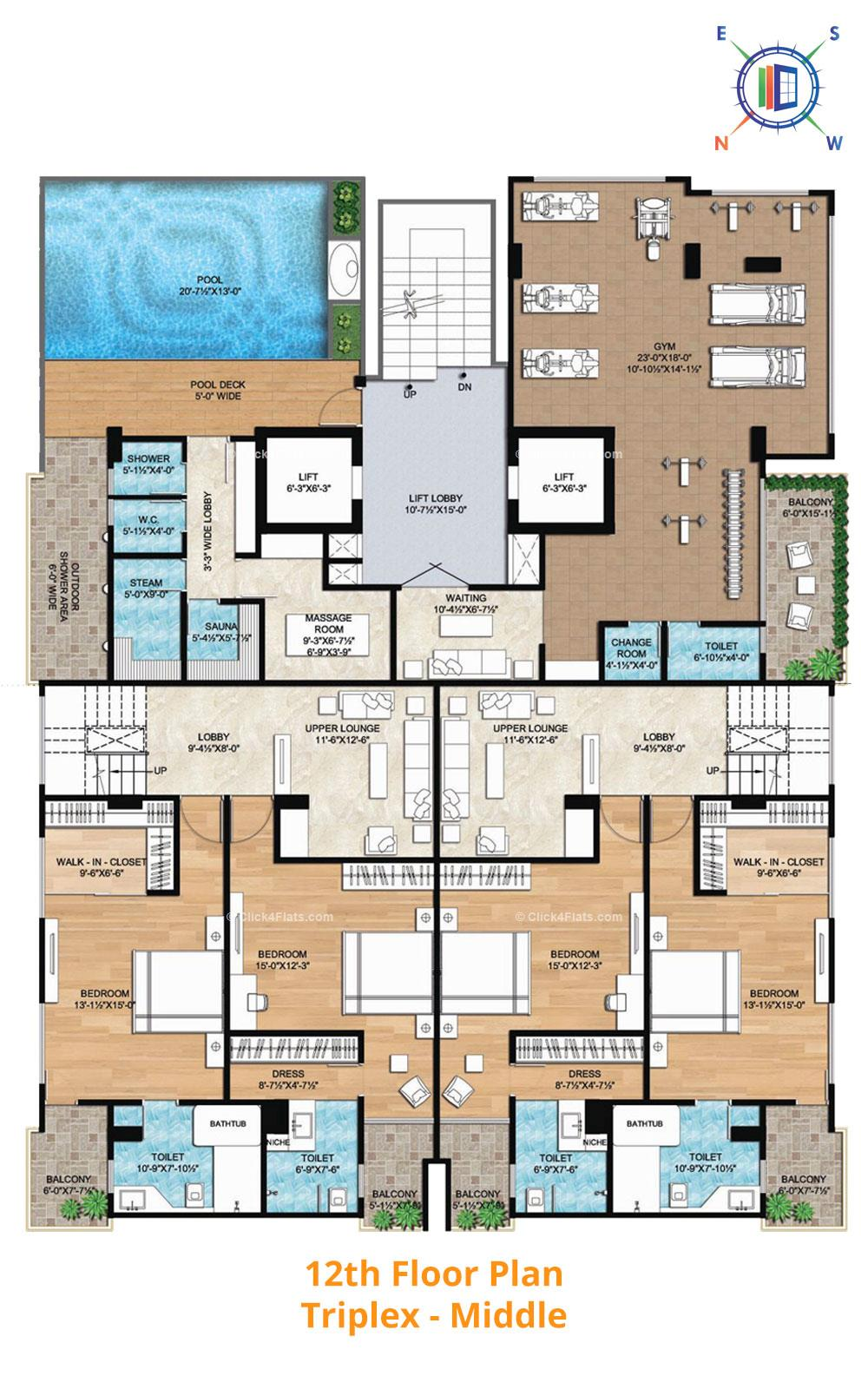 Aralyas 12th Floor Plan