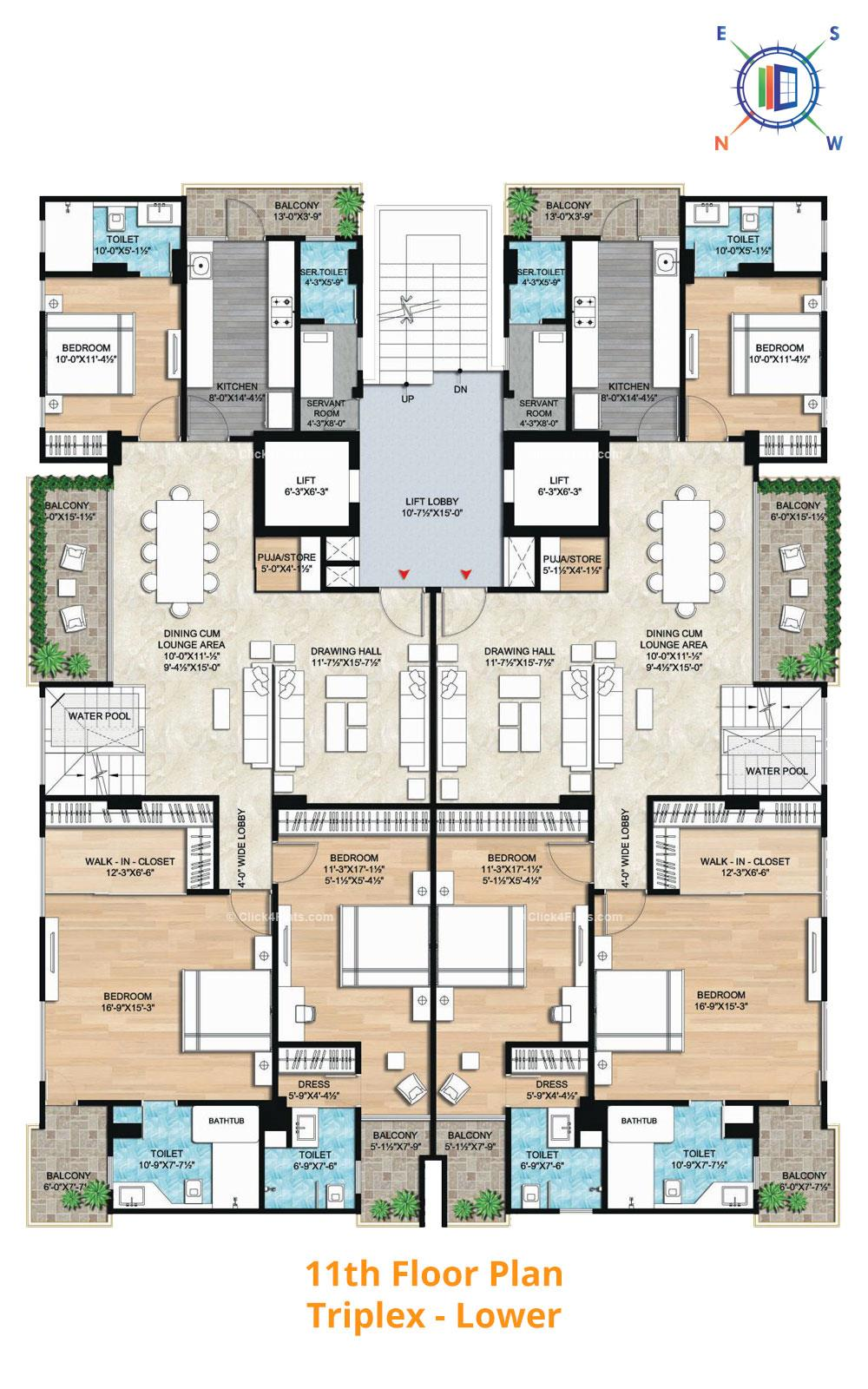 Aralyas 11th Floor Plan