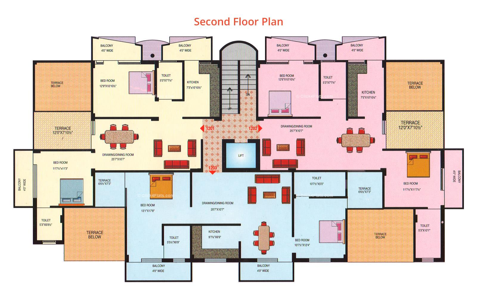 Prestige Chandra Ghanta Second Floor Plan