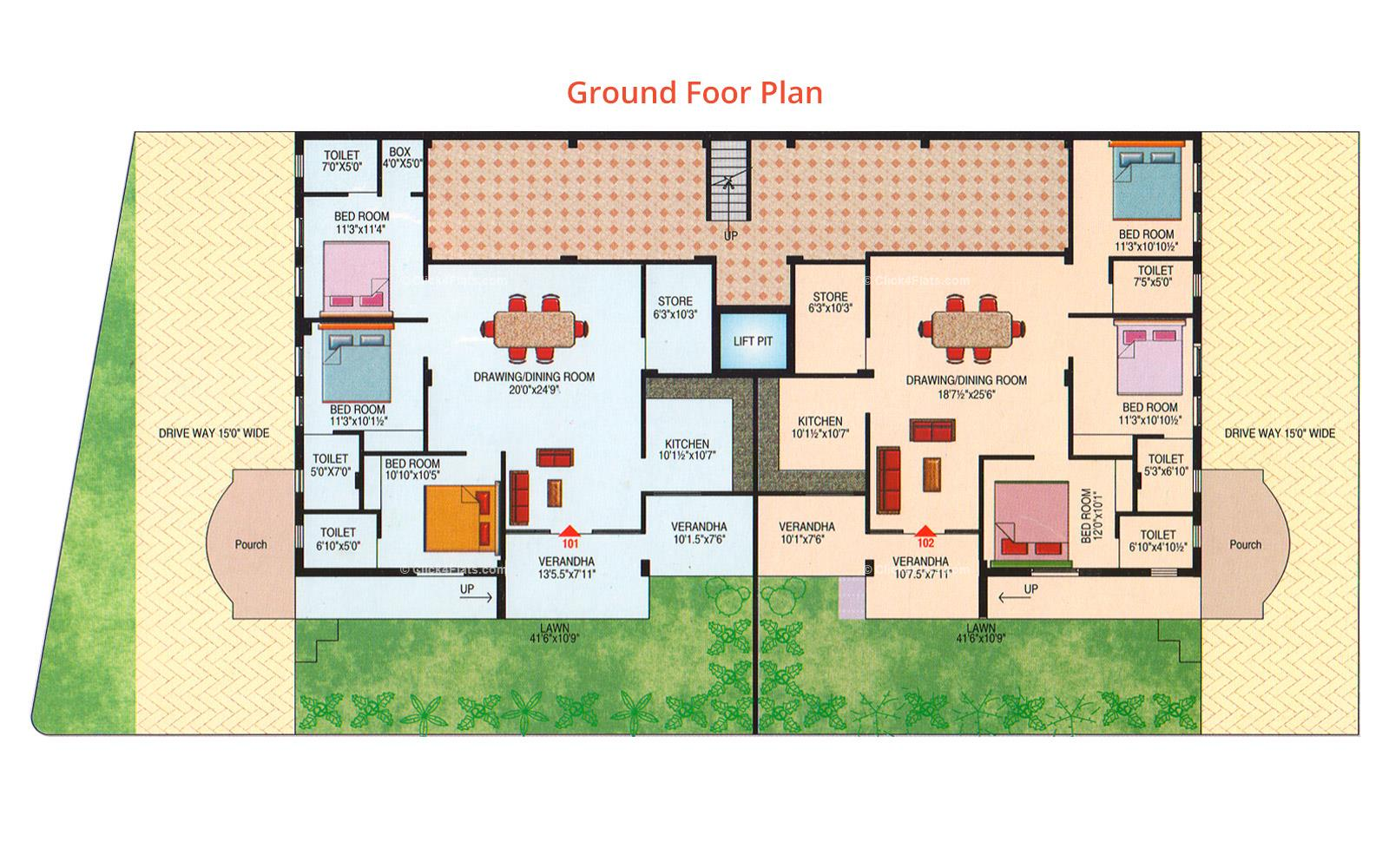 Prestige Chandra Ghanta Ground Floor Plan