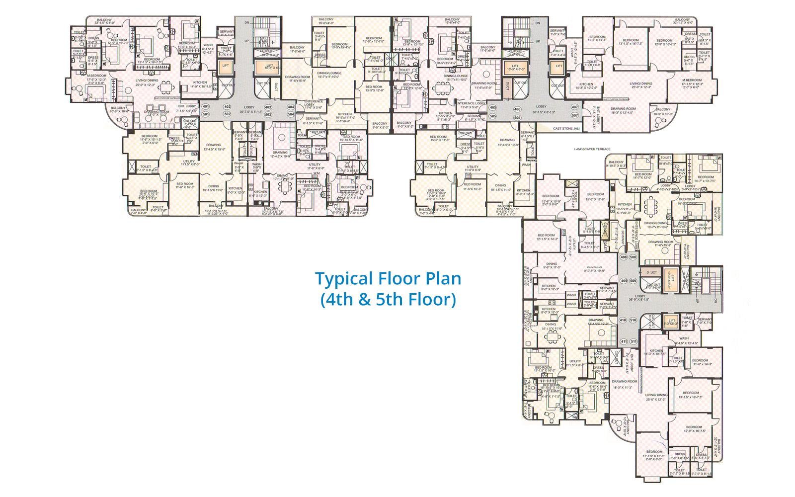 City Pulse Typical Floor Plan
