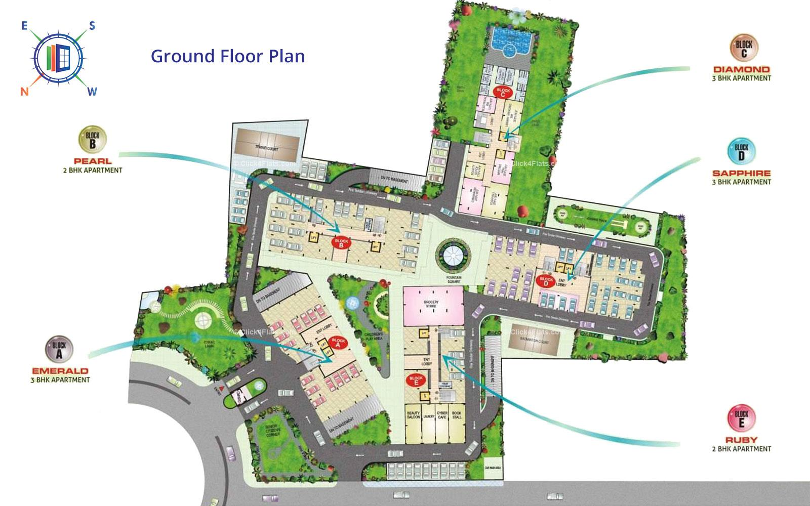 SDC Green Park Ground Floor Plan