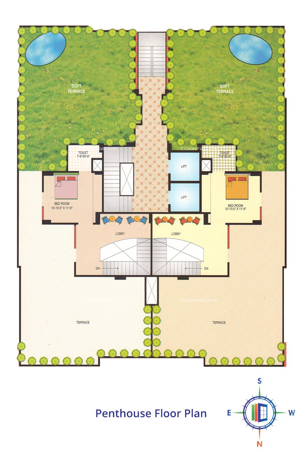 Jagmohan Golden Fortune penthouse Floor Plan
