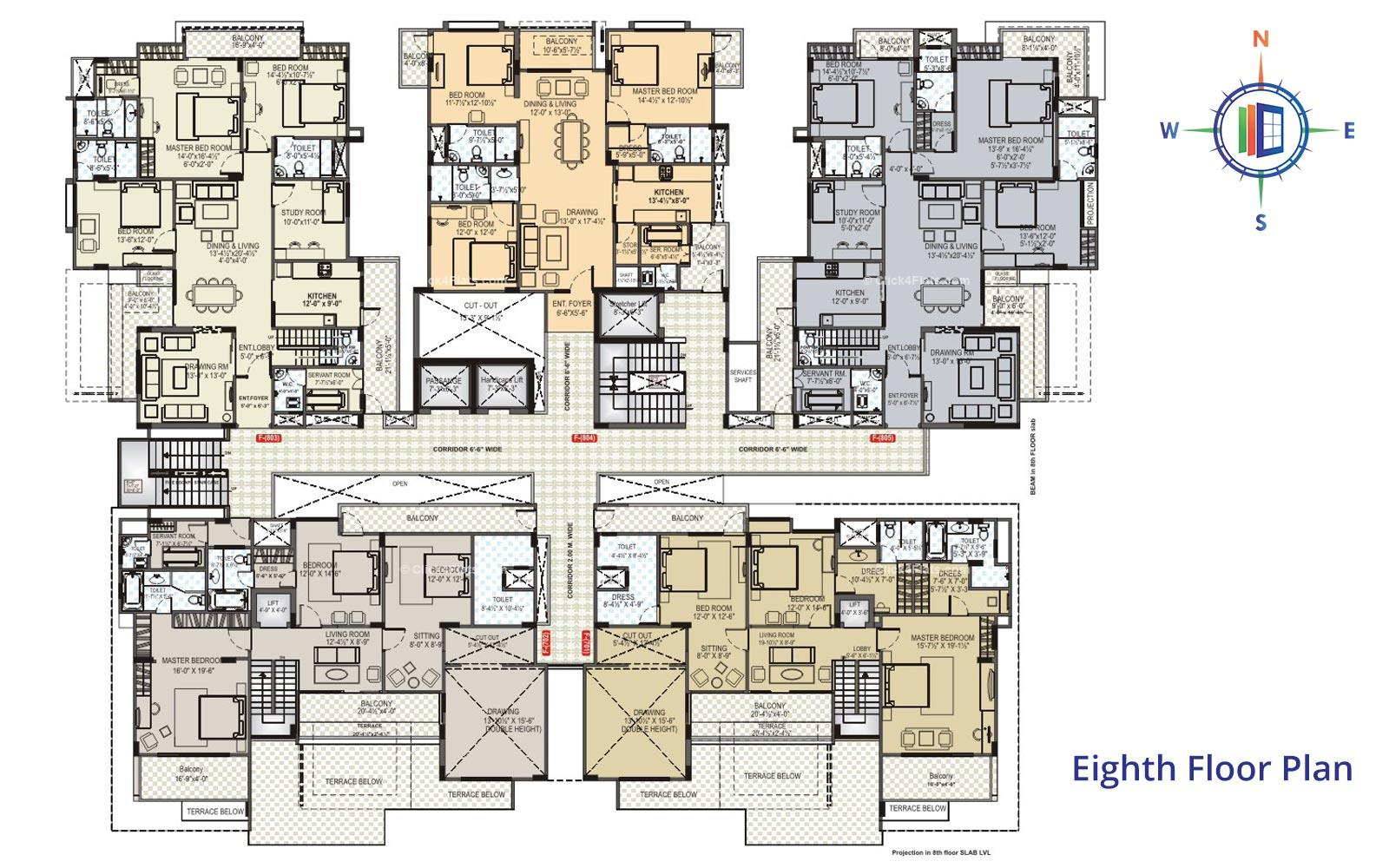 Akshat Trishala Eighth Floor Plan
