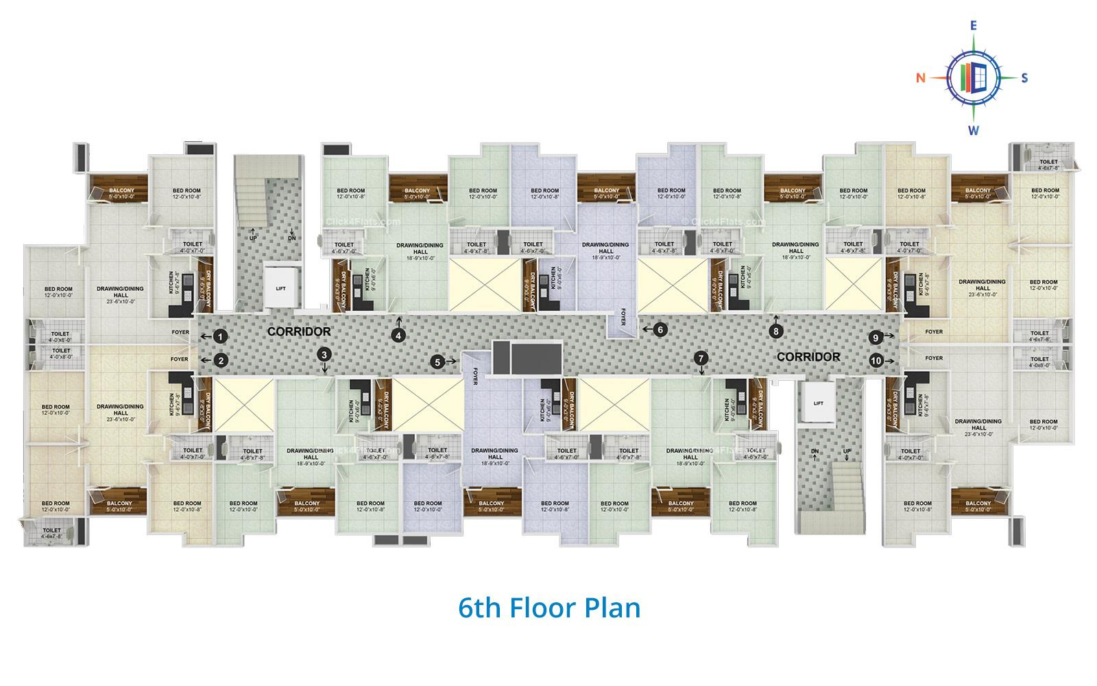The Trump 6th Floor Plan