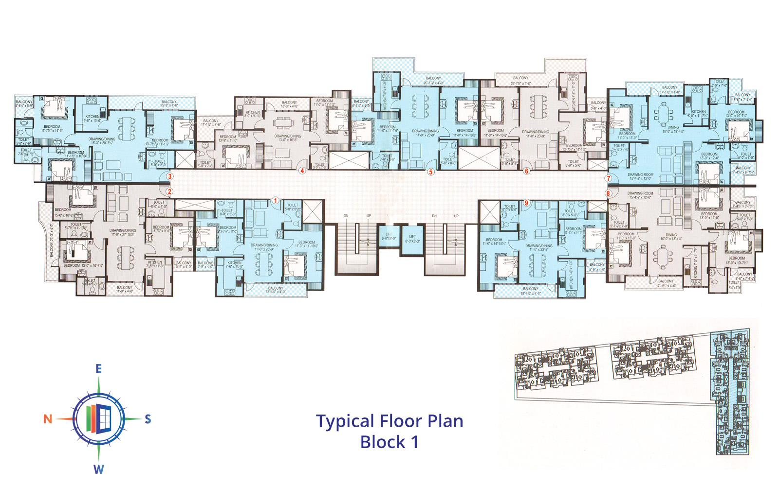 Samriddhi Residency Typical Floor Block 1st