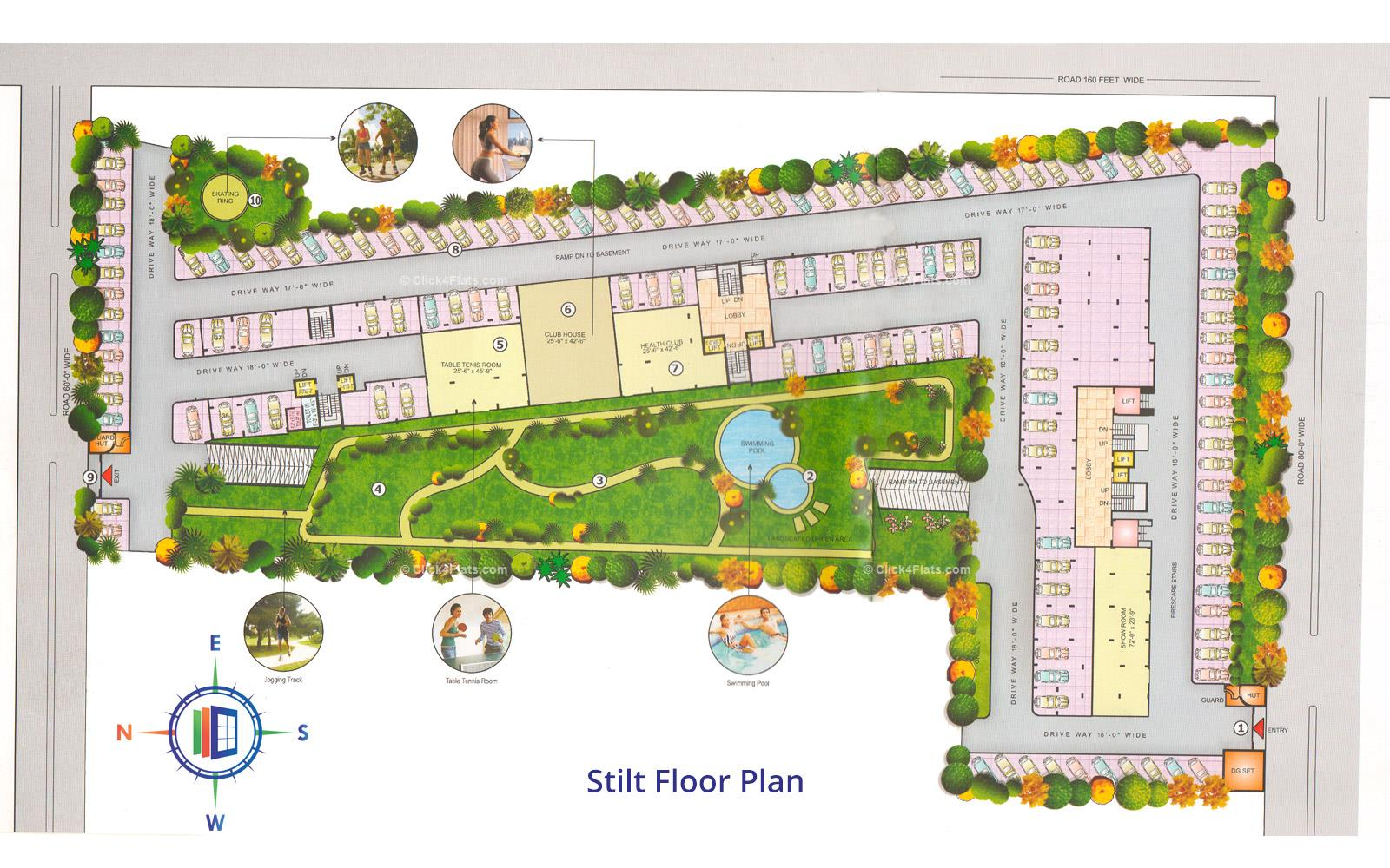 Samriddhi Residency Stilt Floor Plan