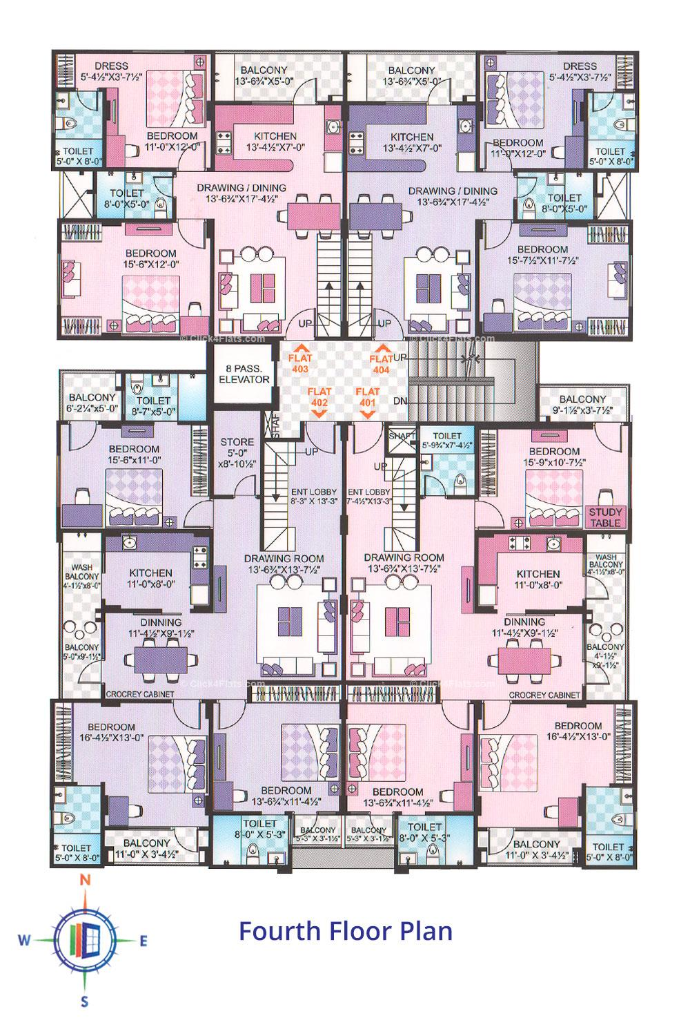 Luxuria Fourth Floor Plan