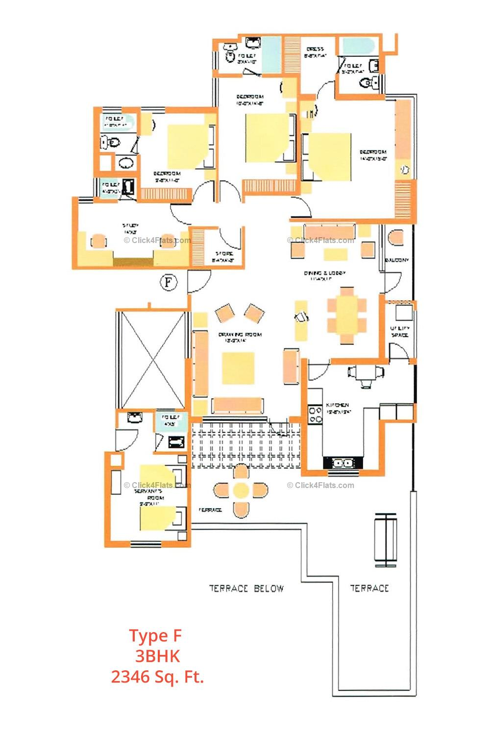 Dave Apartments 3 BHK