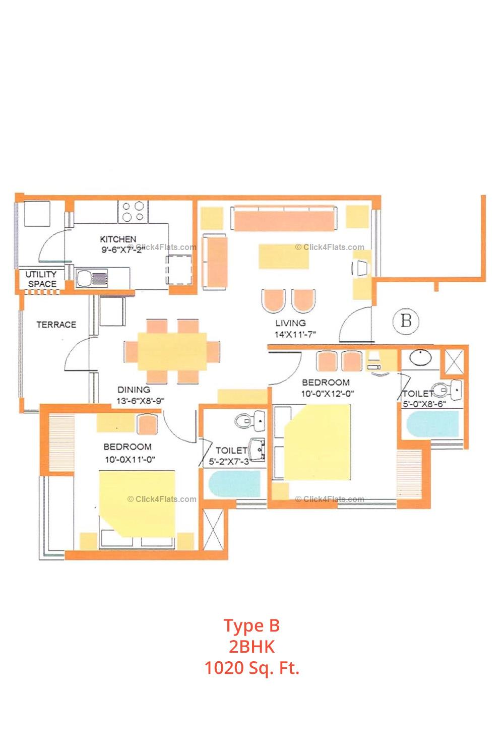 Dave Apartments 2 BHK