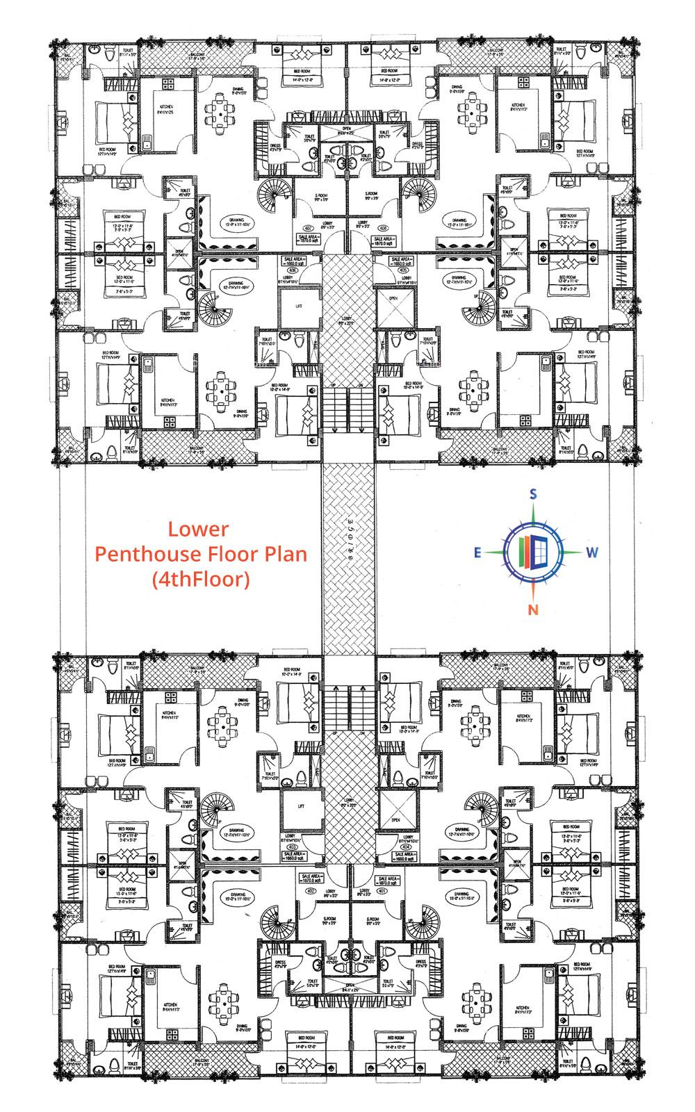 Damodar Pearl Elegance Lower Penthouse Floor Plan