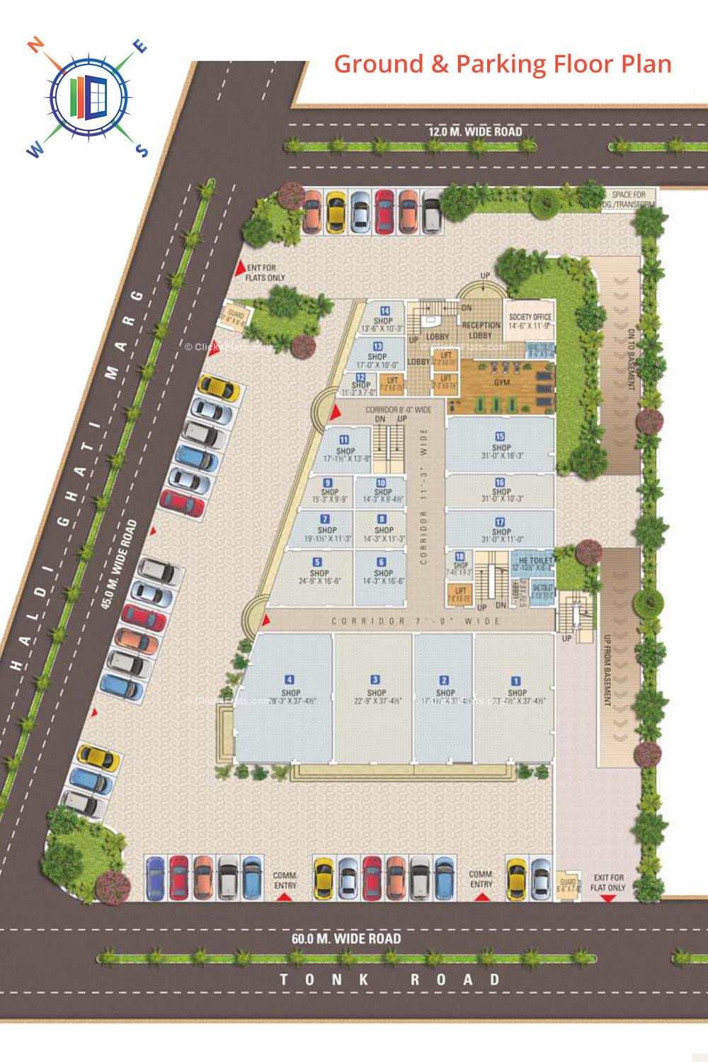 Anand Prime Ground Floor Plan