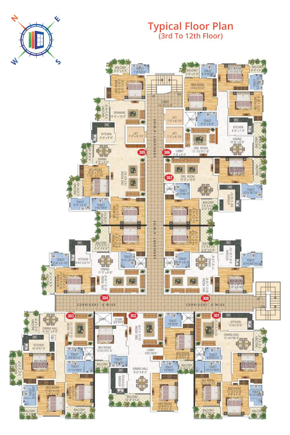 Anand Prime Typical Floor Plan