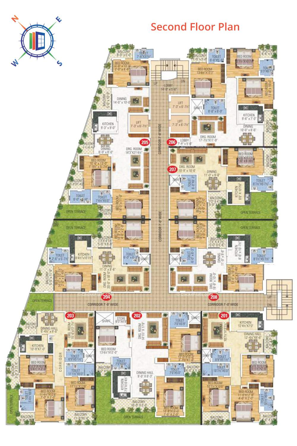 Anand Prime Second Floor Plan