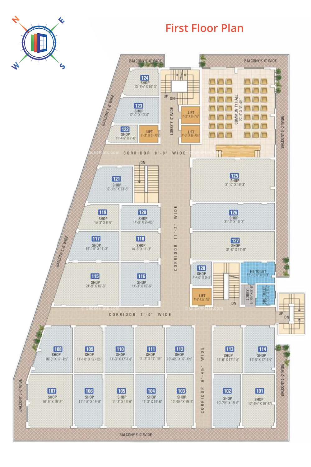 Anand Prime First Floor Plan
