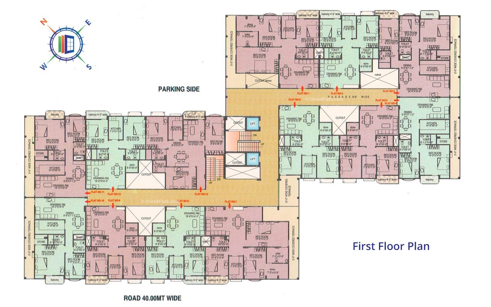 Ganpati Paradise First Floor Plan