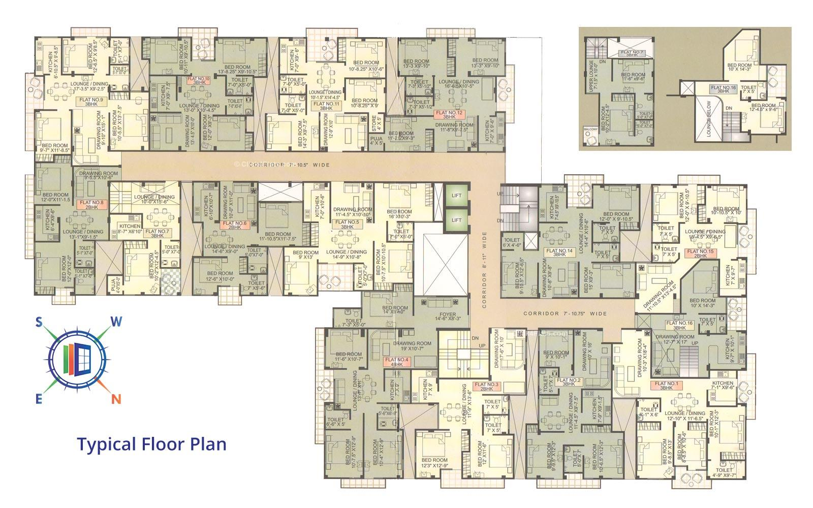 Dwarika Typical Floor Plan