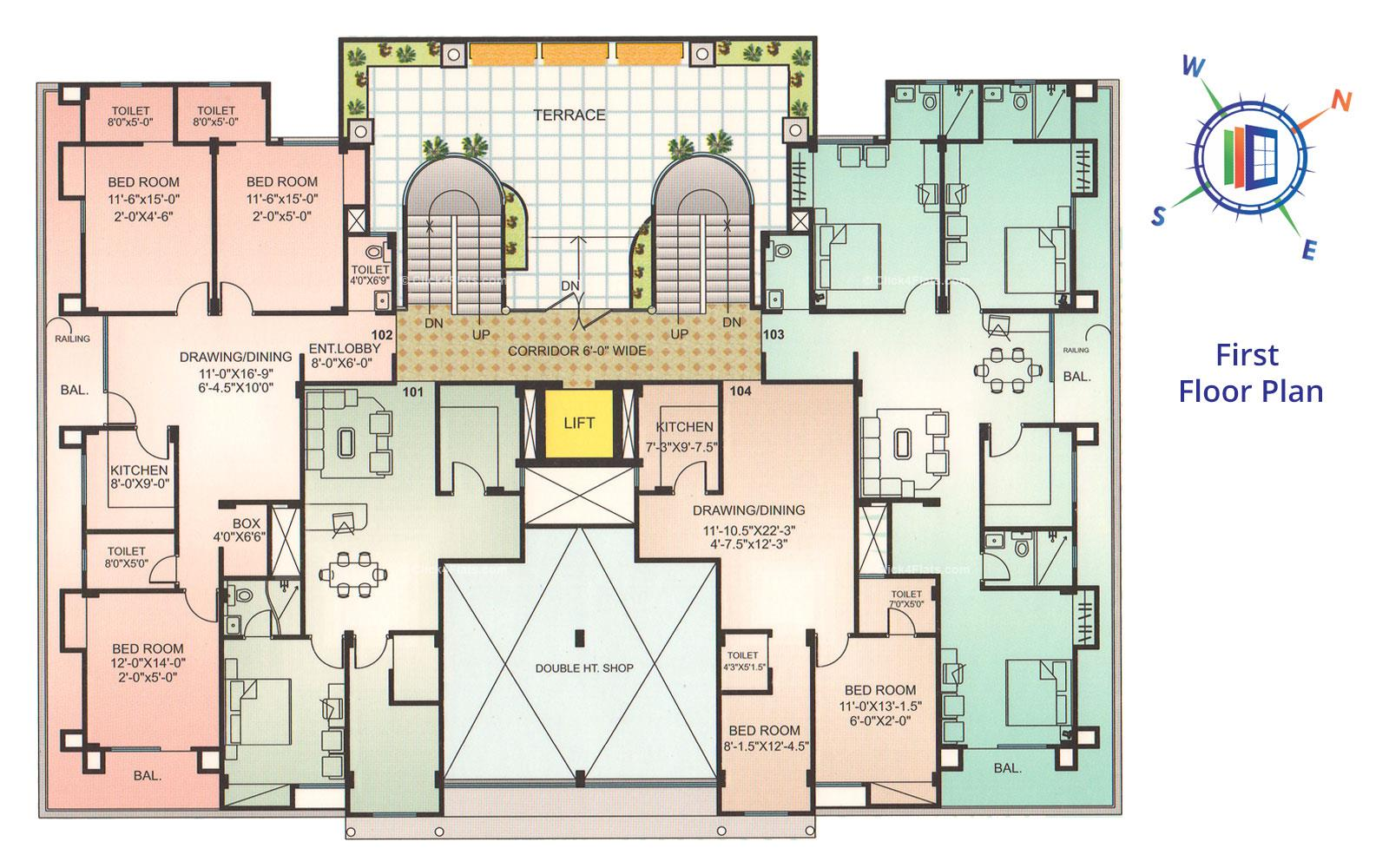 Whispering Palms First Floor Plan