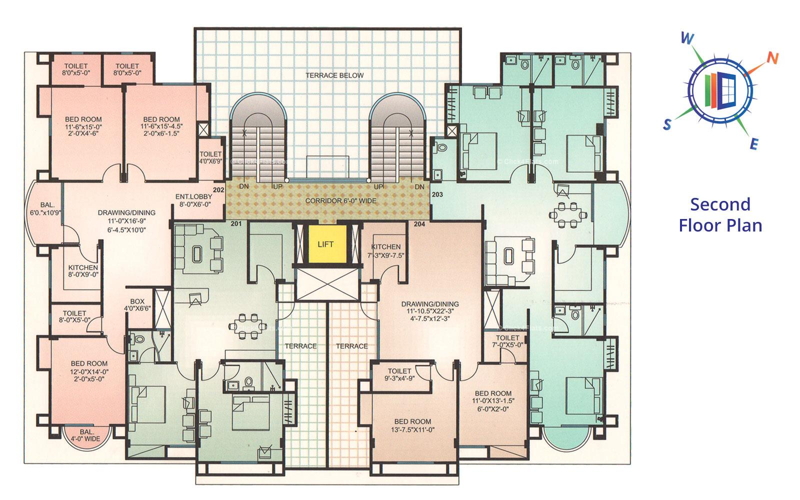 Whispering Palms Second Floor Plan