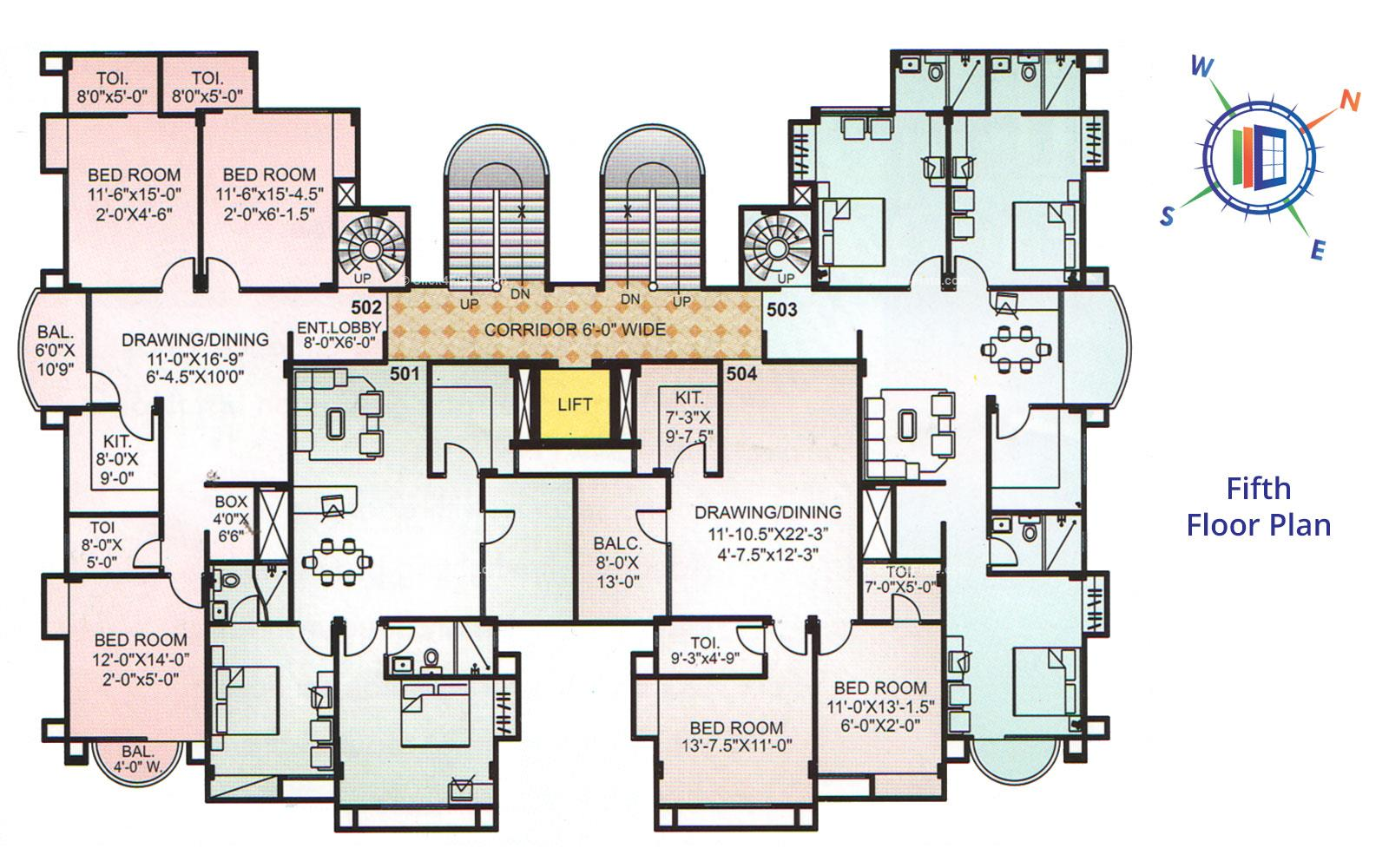 Whispering Palms Fifth Floor Plan