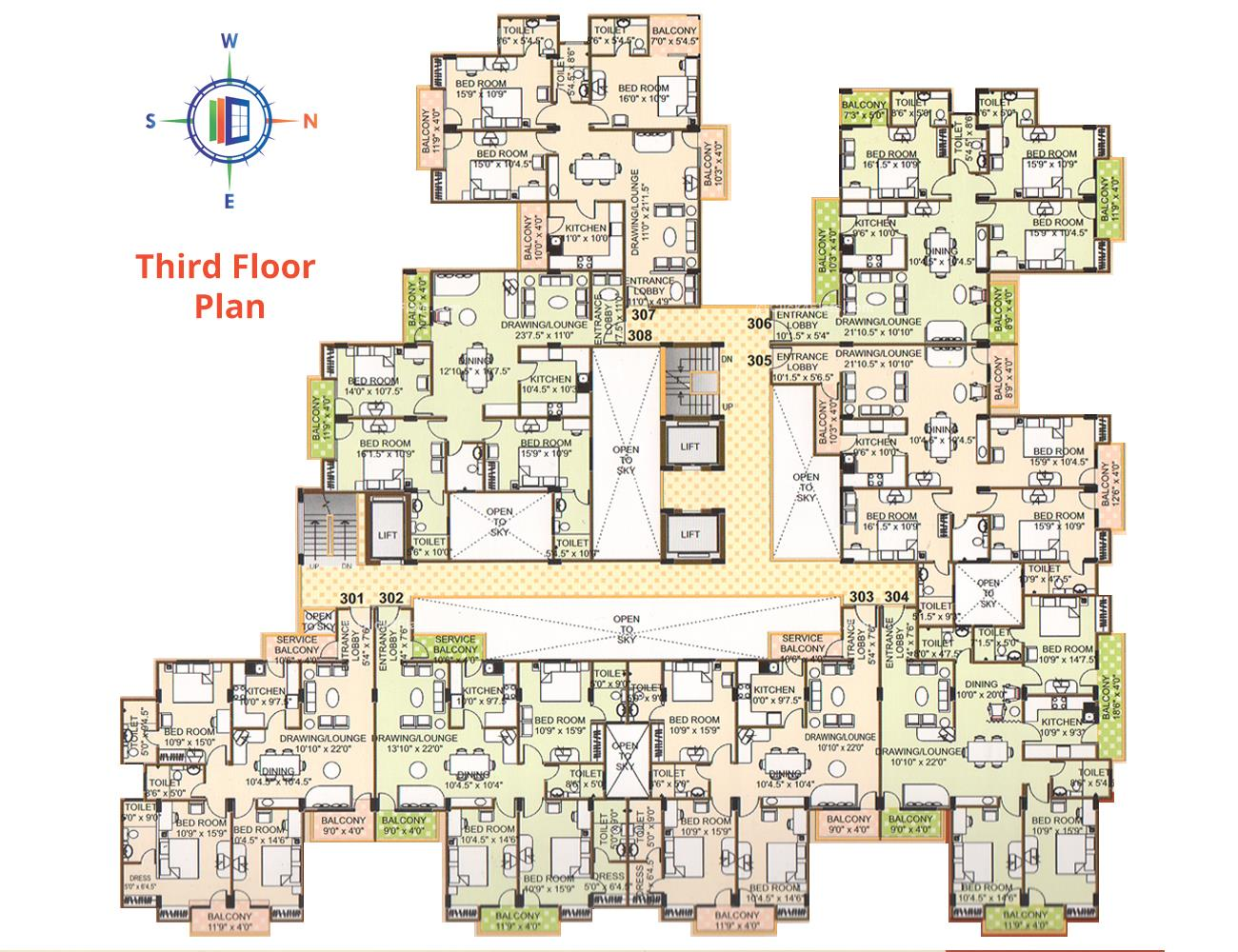 Pearl Vegas Third Floor Plan
