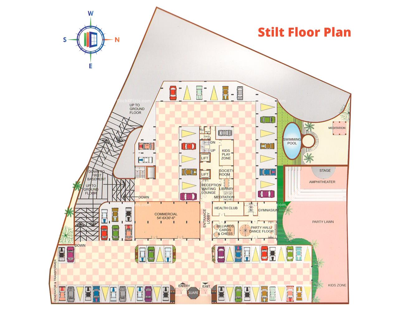 Pearl Vegas Stilt Floor Plan