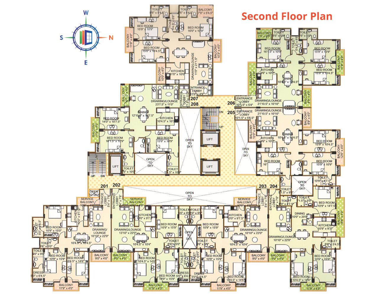 Pearl Vegas Second Floor Plan