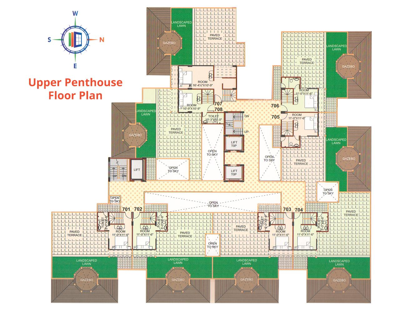 Pearl Vegas Upper Penthouse Floor Plan
