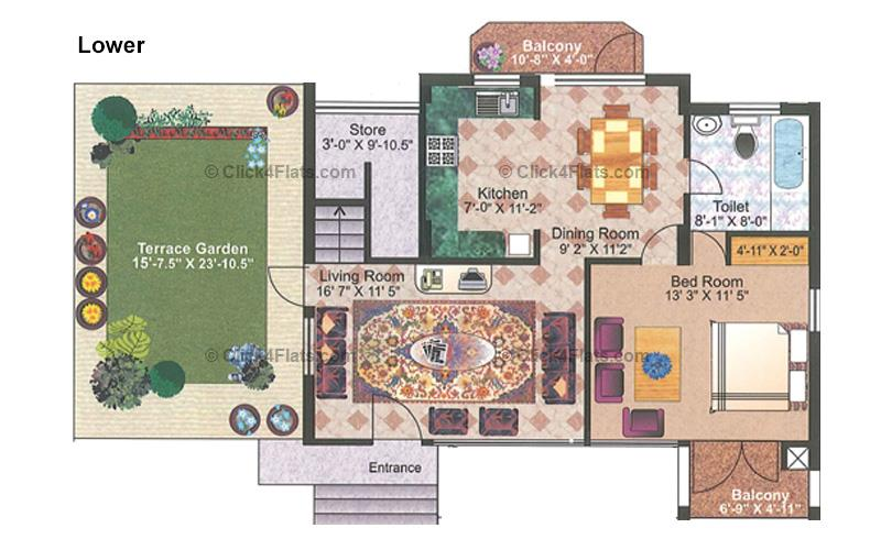 Royal Ensign 3 BHK