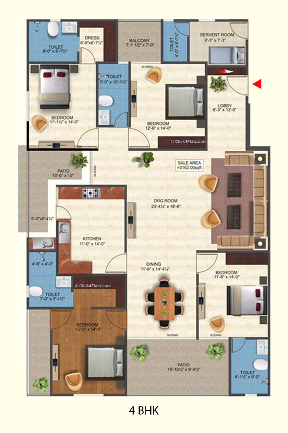 Royal Anmol 4 BHK
