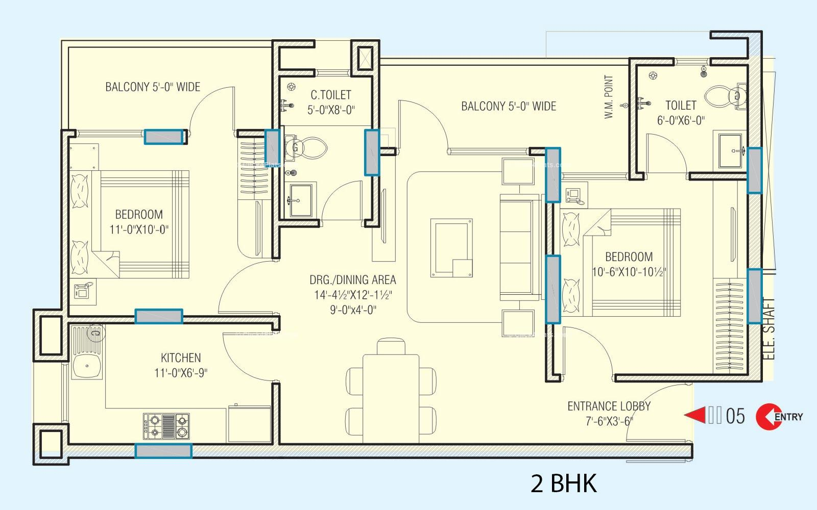 Platinum Heights 2 BHK