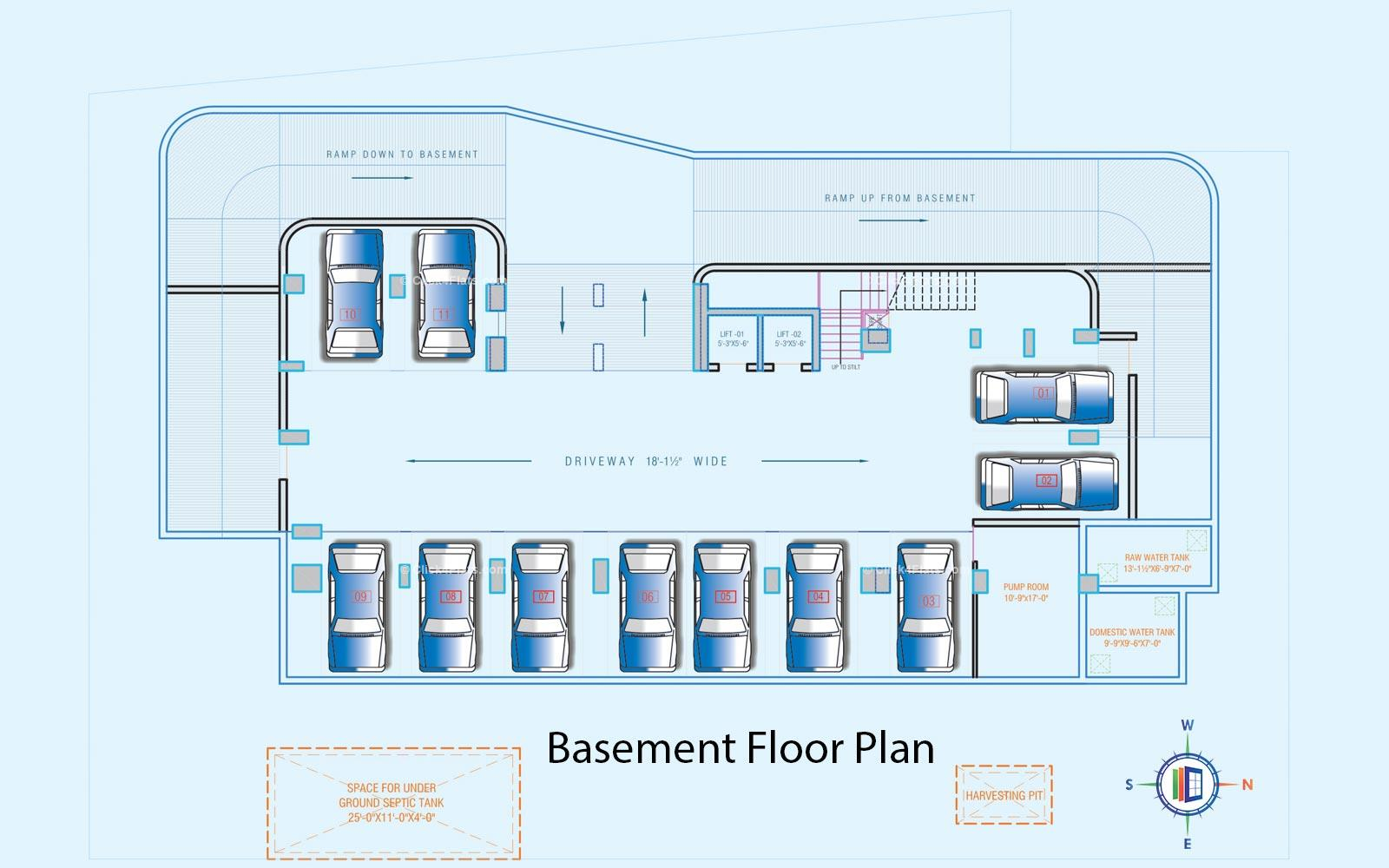 Platinum Heights Basement Floor Plan