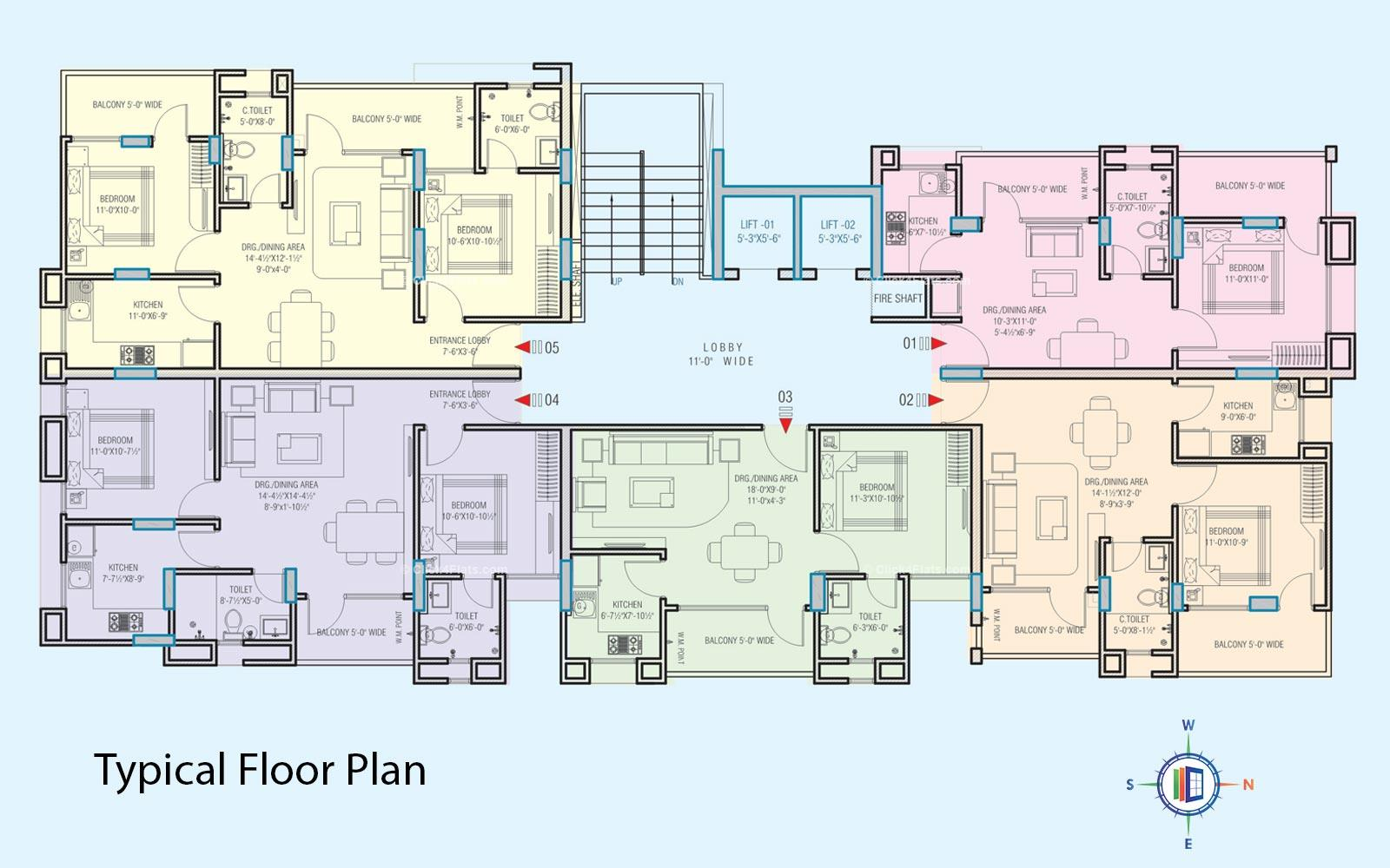 Platinum Heights Typical Floor Plan