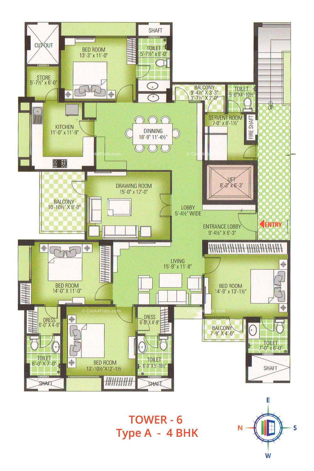 Royal Greens II 4 BHK