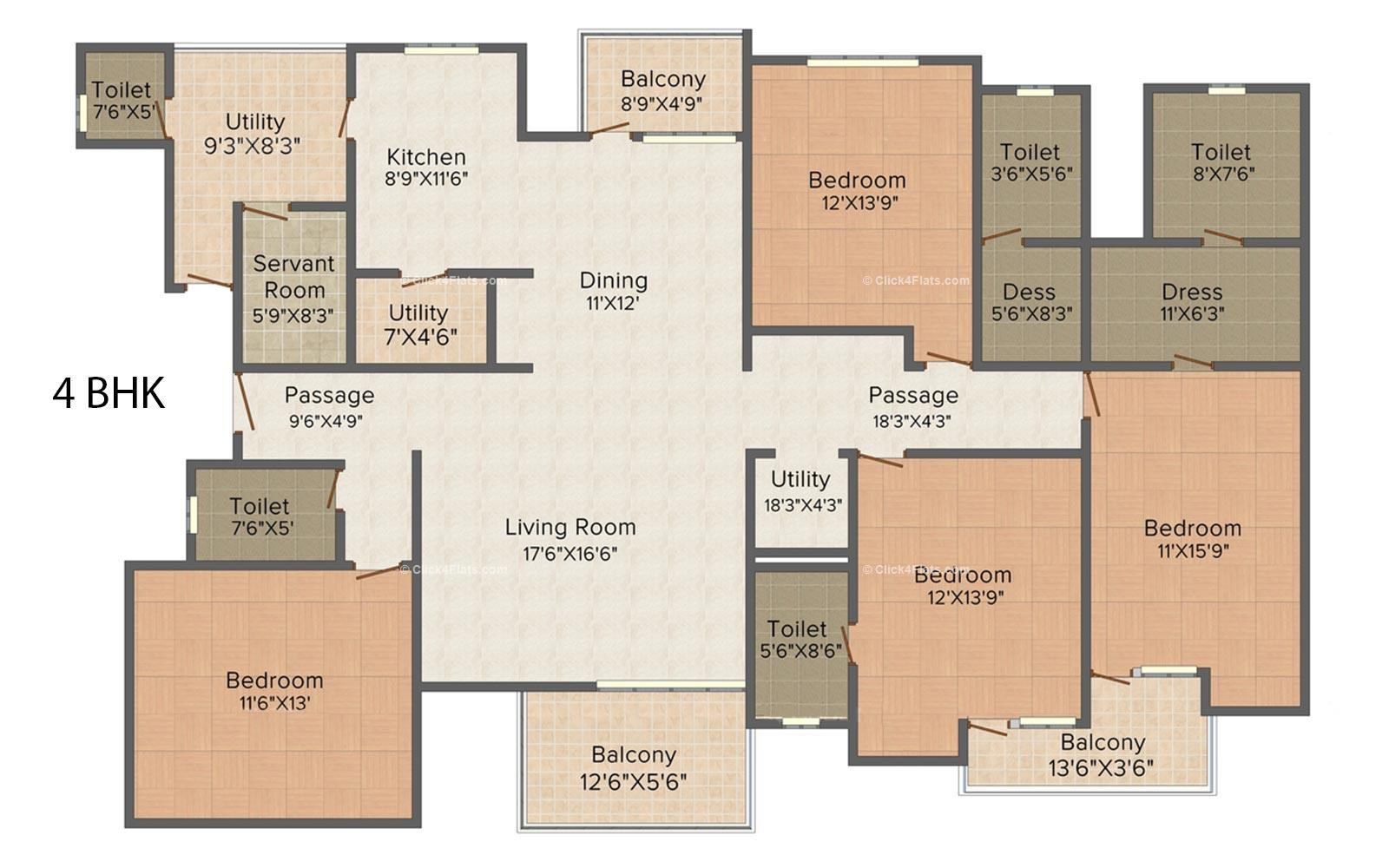 Residency Royale 4 BHK