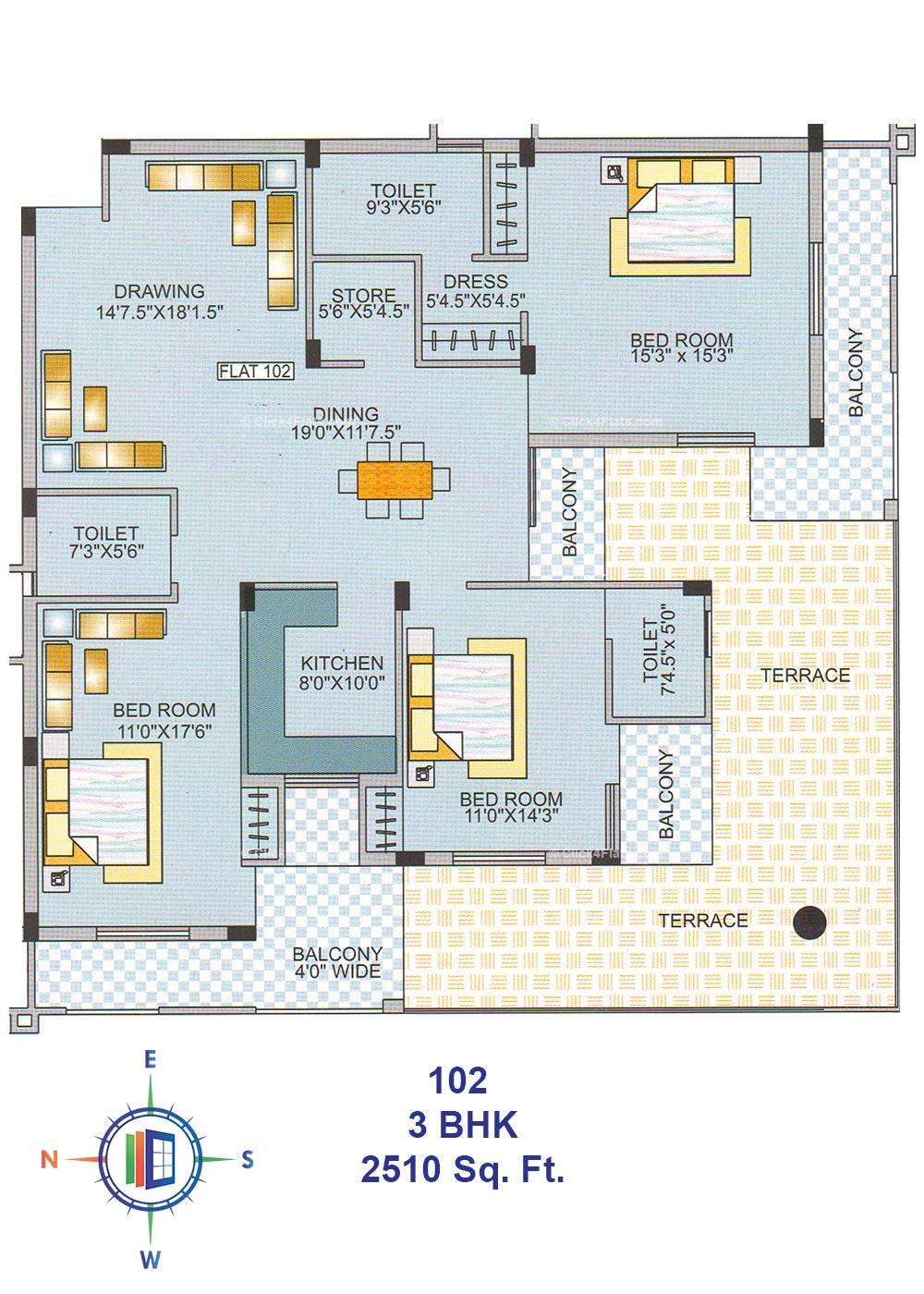 Royal Abode 3 BHK
