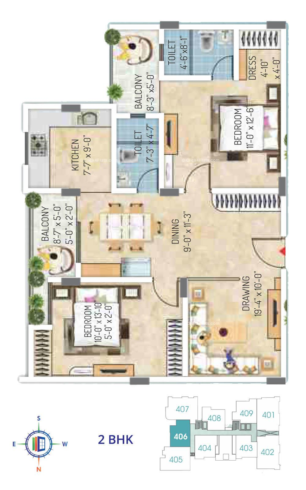 Royal Regalia 2 BHK
