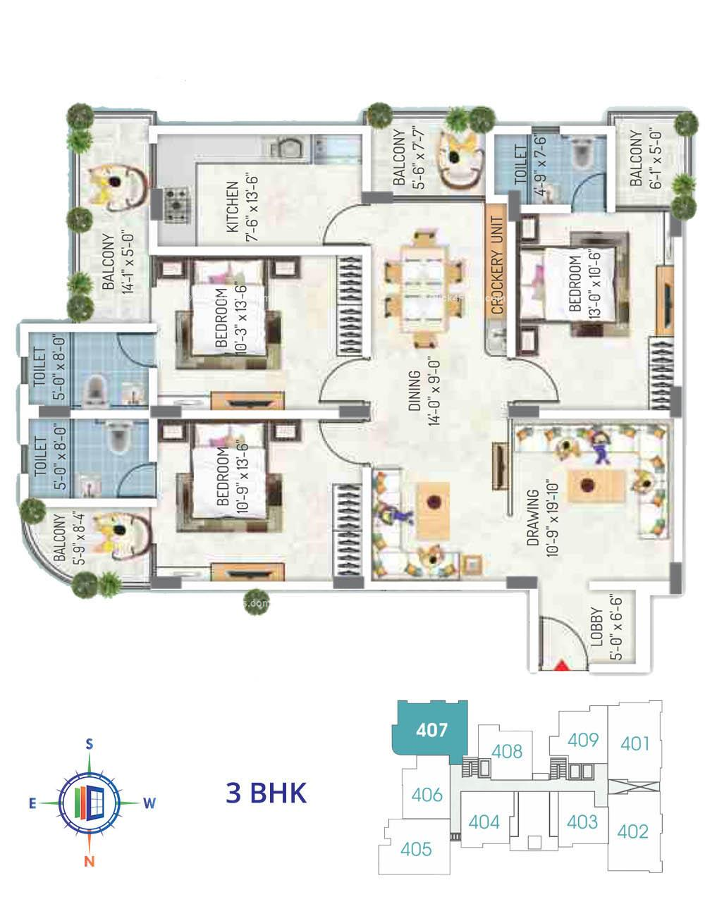 Royal Regalia 3 BHK
