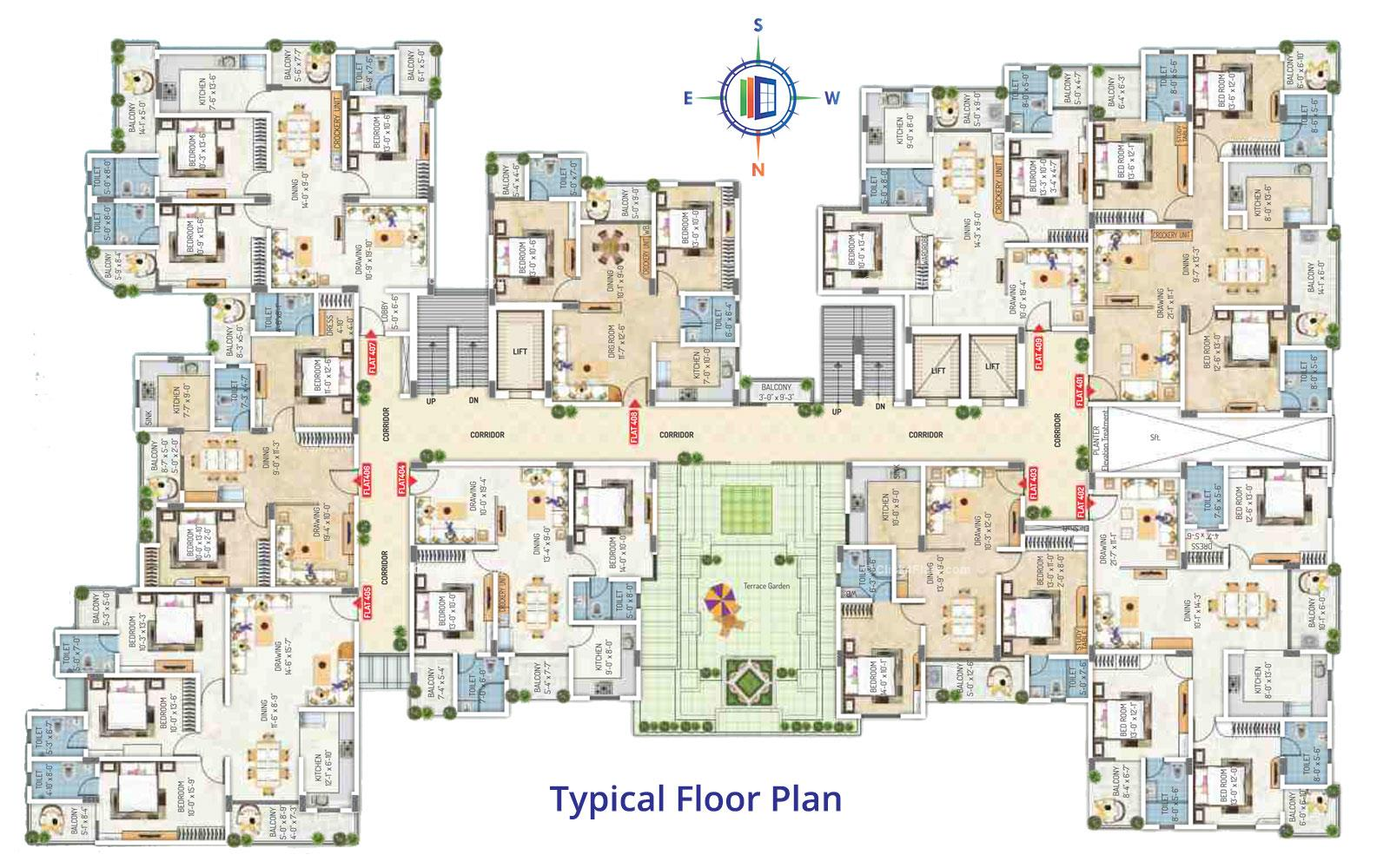 Royal Regalia Typical Floor Plan
