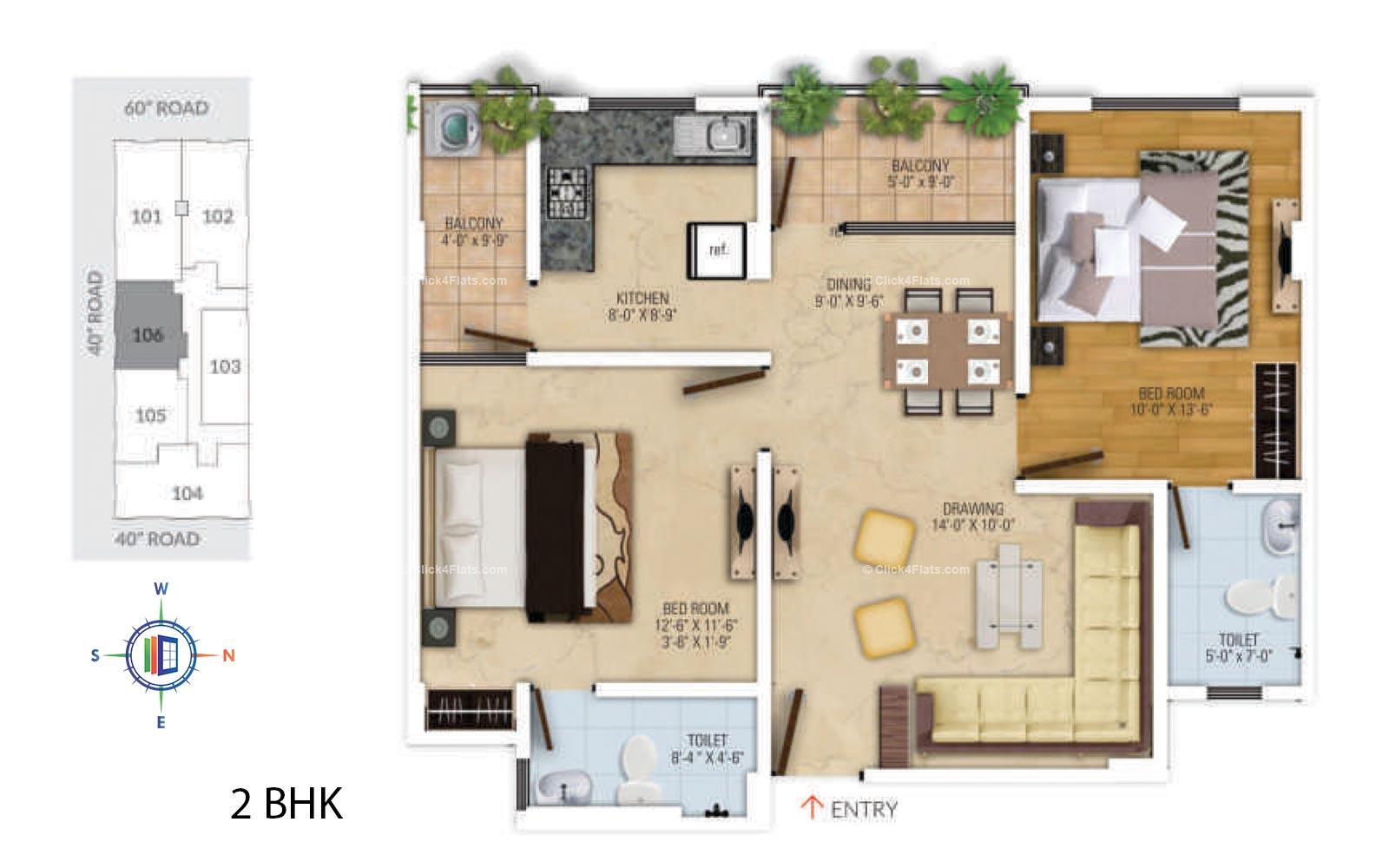 Royal Avenue 2 BHK