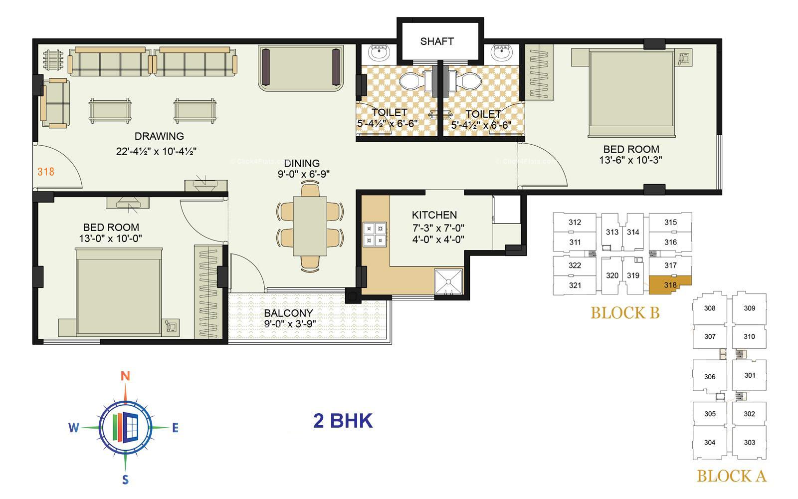 Royale Platinum 2 BHK