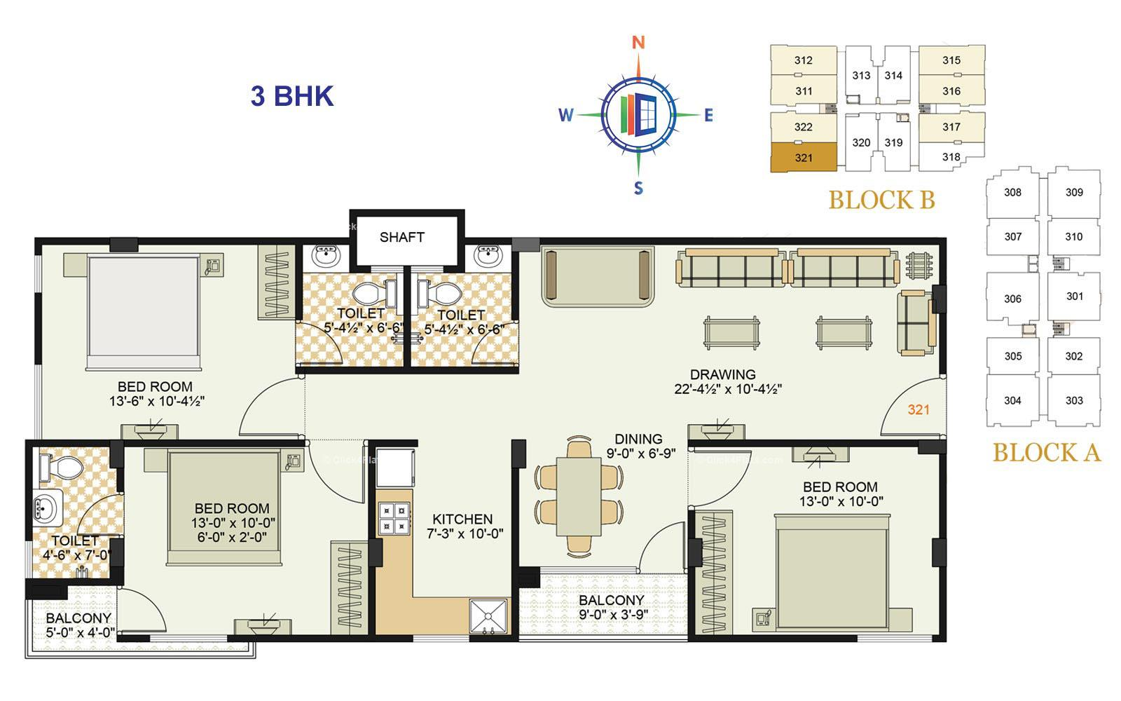 Royale Platinum 3 BHK