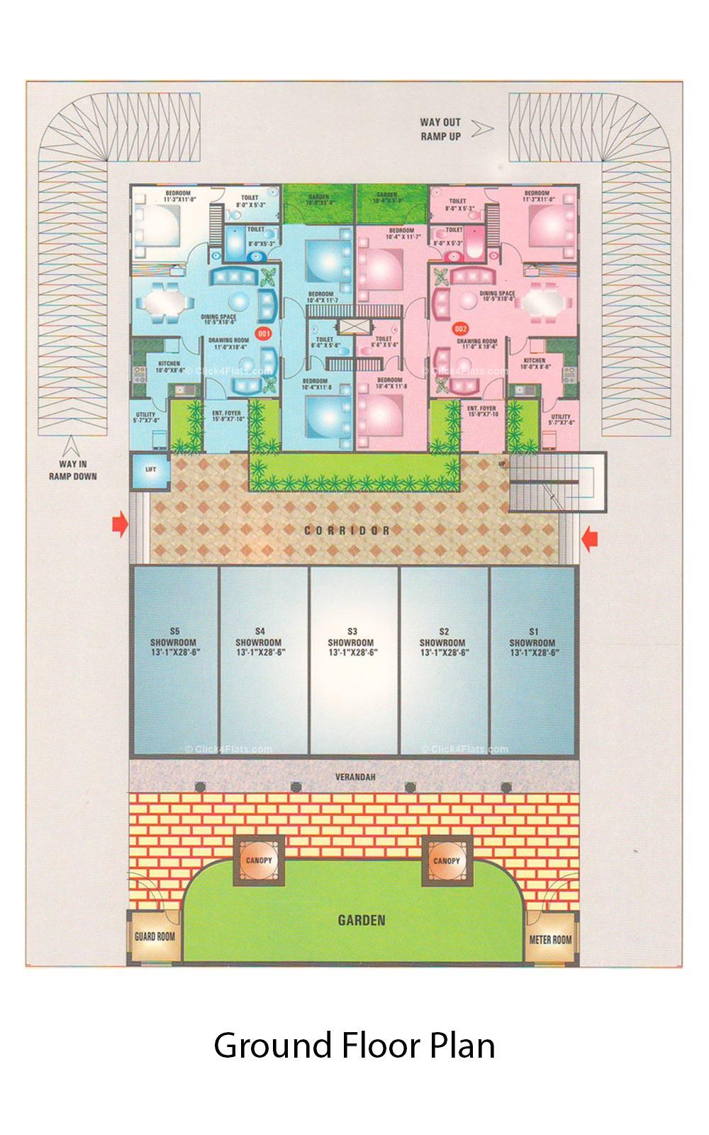 Sanjeevani Ground Floor Plan