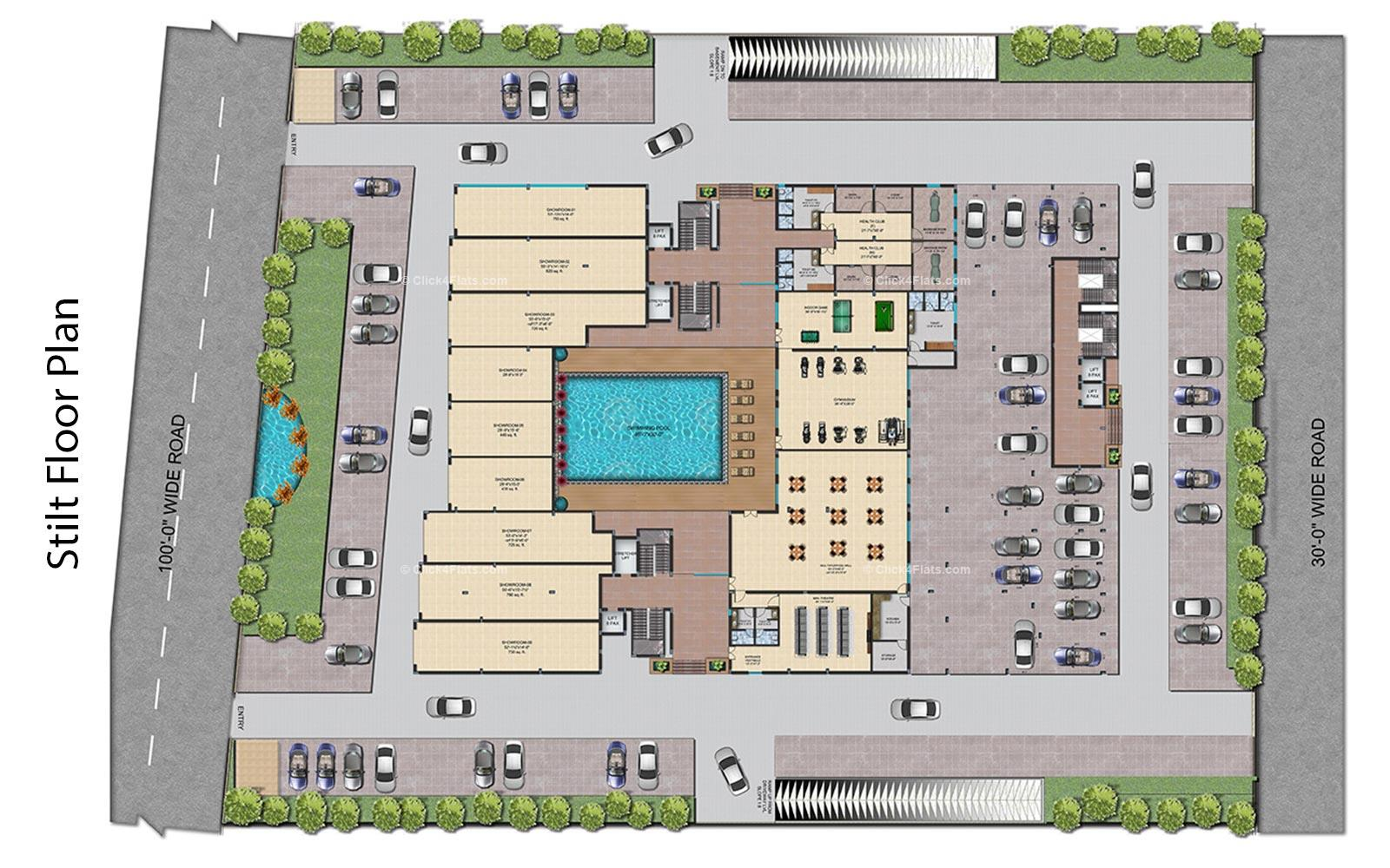 Shivalika Stilt Floor Plan