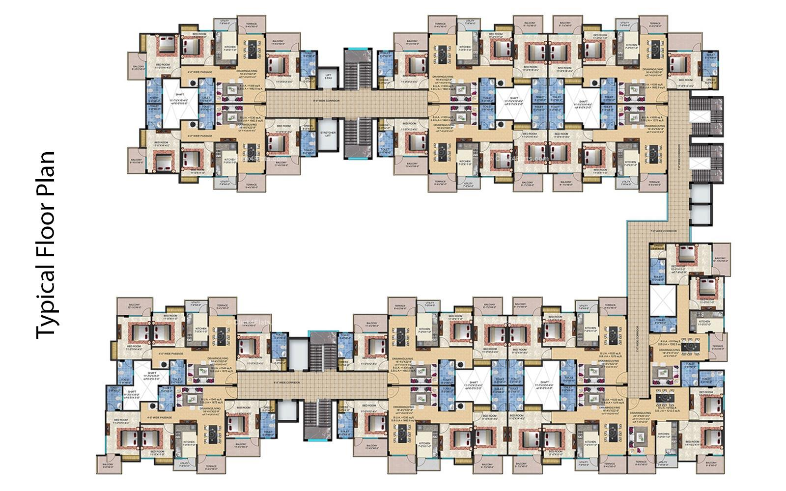 Shivalika Typical Floor Plan