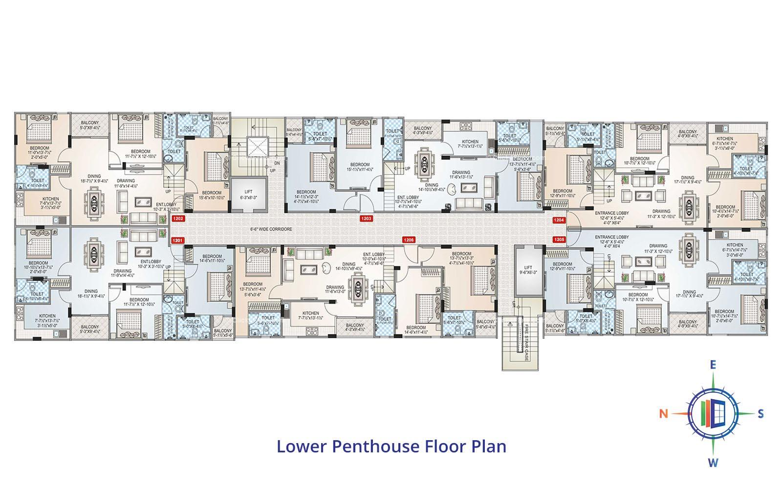 Shivgyan Heights Lower Penthouse Floor Plan