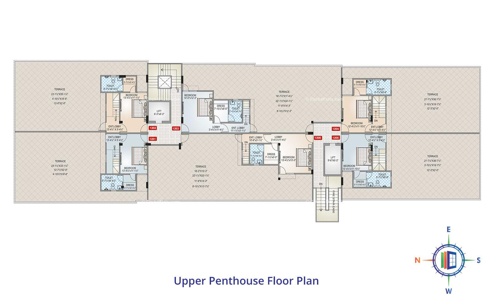 Shivgyan Heights Upper Penthouse Floor Plan