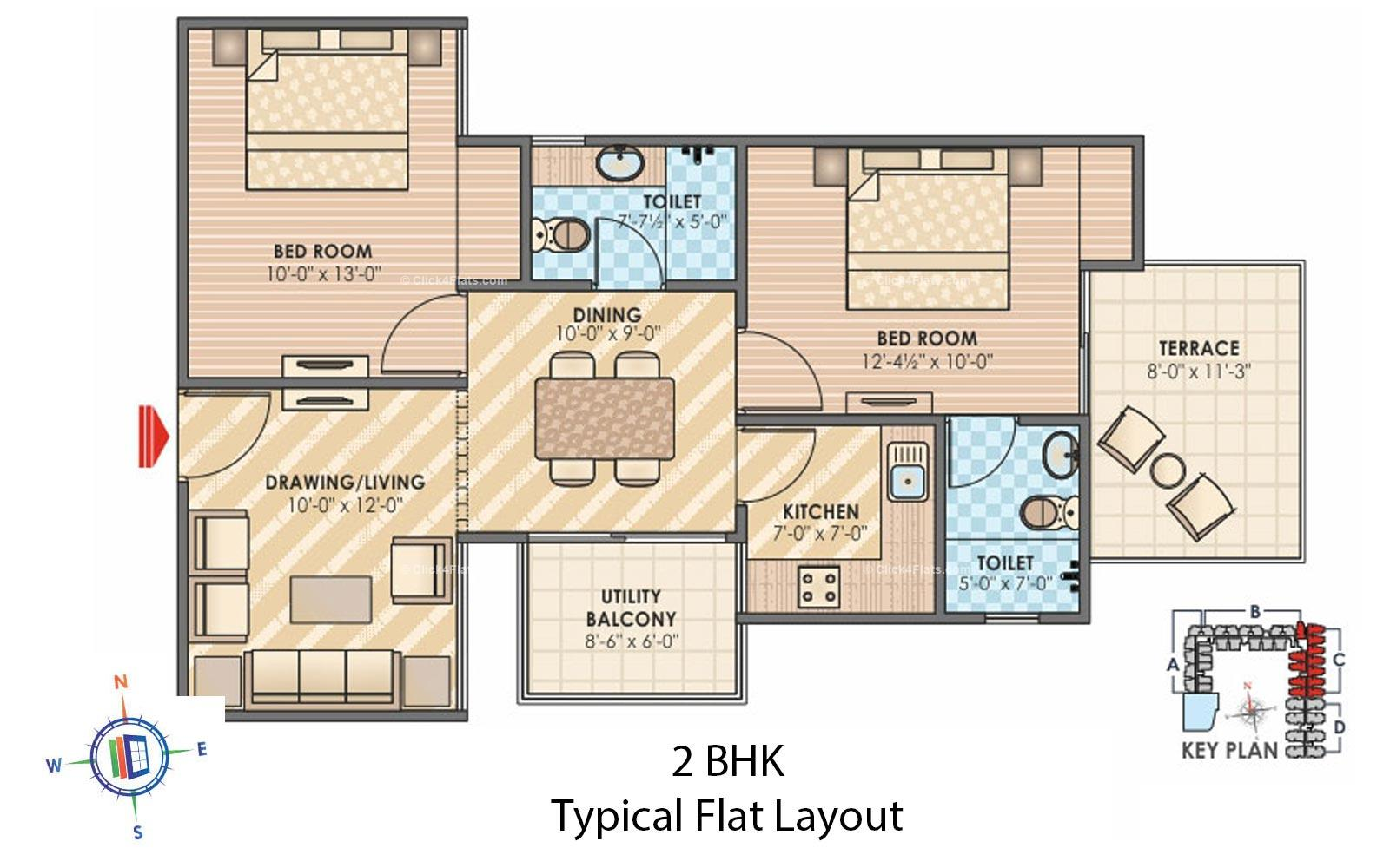 Sky Lounges 2 BHK