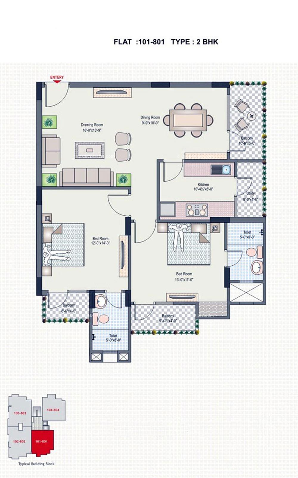 Silver Spring 2 BHK